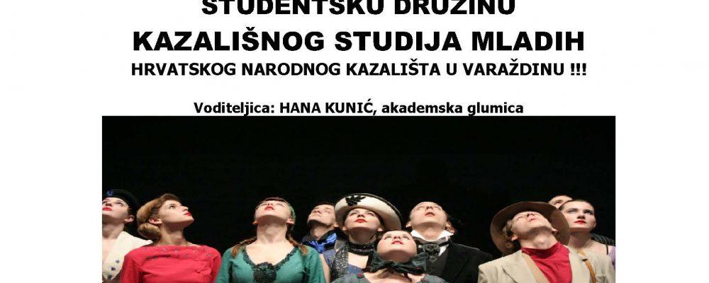 Uključi se u Kazališni studio mladih HNK-a Varaždin